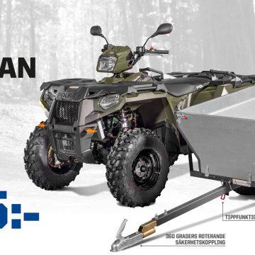 Kampanj Polaris Sportsman med vagn